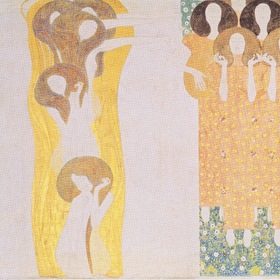 Beethoven Frieze, 5 Right Side Wall - Neck, 1902 Klimt